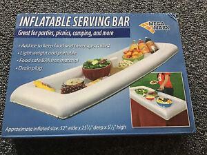 "Inflatable Serving Bar Pool Spa 52"" x 25.5"" x 5.5"" Mega Maxx NIB"