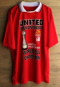 MANCHESTER UNITED 1998/1999 HOME FOOTBALL SHIRT JERSEY WORLD CUP SQUAD SIZE L