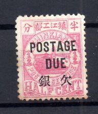 China 1895 Chinkiang 1/2c Postage Due mint MH black overprint WS16819