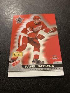 2001-02 Pacific Vanguard Pavel Datsyuk Premiere Date SP RC /83 🔥🔥🔥