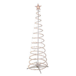Northlight 6' Clear Light Outdoor Spiral Cone Christmas Tree Outdoor Decor