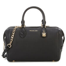 Michael Kors Grayson Large Black Leather Convertible Satchel 30F7GGYS3L NWT