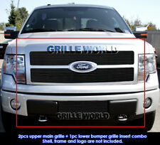 For 2009-2011 Ford F-150 Platinum Black Billet Grille Grill Combo Insert