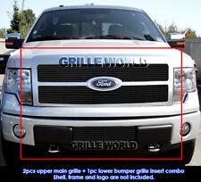Fits 2009-2011 Ford F-150 Platinum Black Billet Grille Combo Insert
