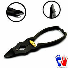 Toenail Clipper Chiropody CANTILEVER Heavy Duty Thick Foot Nails Cutter Black CE