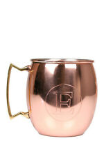 Jodhpuri 20 oz Moscow Mule Mug Initial Letter E Copper Brass Handle Monogram Cup