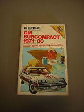 Chilton's Repair and Tune-Up Guide Manual Vega, Monza, Sunbird, Skyhawk 1971-80