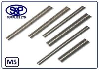 M5 - 5MM ST/STEEL THREADED BAR STUDDING ALLTHREAD 100MM TO 350MM LGTHS A2 ST/ST