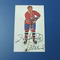 HENRI RICHARD  Montreal Canadiens color postcard  Signed  Autographed  AUTO HOF