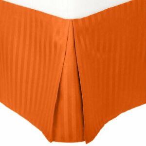 Microfiber Bed Skirt Queen Orange Striped Luxor Treasures PRESTIGE 1500 Series