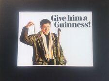 Fisherman GUINNESS Advertising Advert Man Cave Vintage Retro Bar Pub Mounted