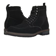 Bass Mens Reston Suede Leather Casual Lace Up Work Boot Black Size 11 D