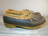 Vintage LL Bean Hunting Leather & Rubber Rain Men's Booties Boots Size 11 Wide
