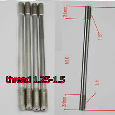 4* M10 x 175mm Titanium thread 1.5-1.25 Double End bolts Studs Fastening Screws