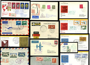 AVIATION FLOWN COVERS LUFTHANSA 1955-75 by AIRCRAFT FLIGHT or COUNTRY