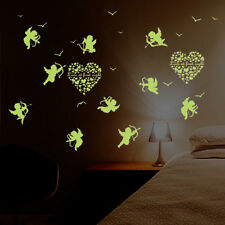 Angel Love Heart In The Dark Luminous Fluorescent Wall Sticker Kid Bedroom Glow