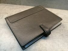 FILOFAX HOLBORN A5 GREY REAL DELUXE LEATHER ORGANISER