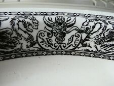 More details for very unusual vintage gothic dragon & goat skull serving dish. kitchenalia.