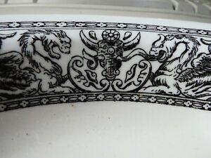 Very unusual Vintage Gothic Dragon & Goat Skull serving dish. Kitchenalia.