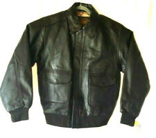 NEW Excelled Dark Brown Leather A-2 Flight Bomber Military Jacket Size S - NWT