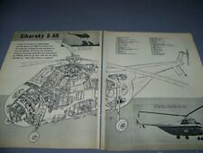 GLENCOE//ITC SIKORSKY S-55 HELICOPTER NEW IN POLY BAG BAG SHOT WITH INSTRUCTIONS