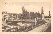 Rarität Foto AK 1915 Freiburg im Breisgau Kaiserstraßenbrücke Feldpost 1. WK
