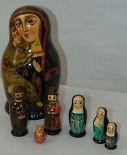 VINTAGE Russian NESTING DOLLS Matryoshka RELIGIOUS Nuns ++