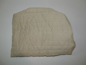 "Quilted Bassinet Mattress Pad ~ Khaki ~ 18"" x 29"" **NEW**"