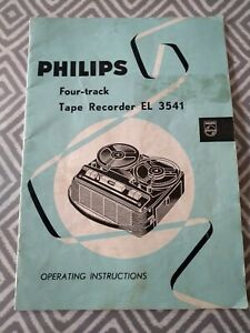 Philips EL 3541 Tape Recorder Operating Instructions Manual