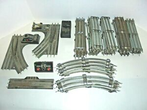 LIONEL BIG TRACK LOT WITH SWITCHES & REMOTE TRACK SECTION 0/27 POSTWAR VINTAGE