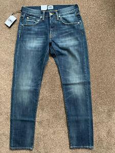 Edwin ED-55 Regular Tapered. Dark Blue Denim Jeans 12oz Grime Dirt Wash. W29 L32