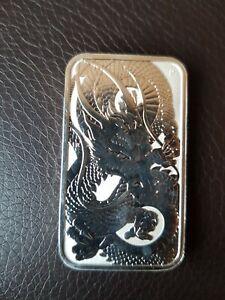 1 oz .9999 Silver  Rectangle Dragon Bar 2021