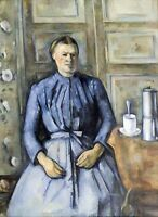 Woman with a Coffeepot by Paul Cezanne Giclee Repro on Canvas