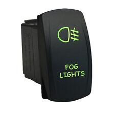 Fog Lights 617g Rocker Switch 12v Laser Led Green On Off Universal