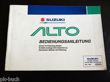 Mode D 'em Ploi Manuel + Scheckheft Suzuki Alto, Support 11/1994