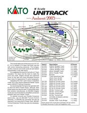 N Scale Amherst 2005 Kato UNITRACK Layout Train Track Set