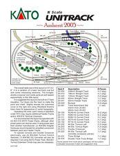 N Scale Amherst 2005 Kato UNITRACK Layout Train Track Set