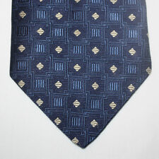 NEW Van Heusen Silk Neck Tie Dark Blue Navy with Silver Diamonds 594