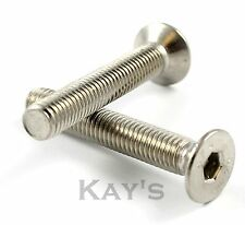 M4 M5 M6 M8 M10 A2 STAINLESS STEEL COUNTERSUNK BOLT CSK ALLEN KEY SOCKET SCREWS