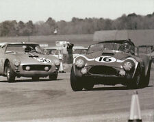 Vintage 8 X 10 Auto Racing Photo 1964 Daytona Cobra & Ferrari 250 SWB
