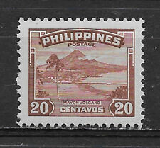 PHILIPPINES,1947, MAYON VOLCANO , 20c STAMP  ,  PERF,  MNH