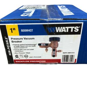 Watts 1 In. 800M4-QT Bronze Pressure Vacuum Breaker 0951414