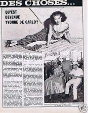 Coupure de presse Clipping 1974 Yvonne de Carlo   (1 page)