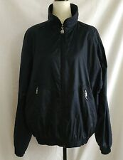 Vintage K-Way Windbreaker Jacket Mens Size L Lined Waterproof Zip Front Blue