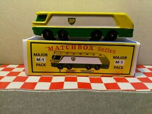 Matchbox Lesney  BP Petrol Tanker (Major pack M1)in a REPRO BOX