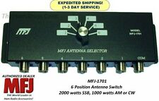 MFJ 1701 - 6 Position Antenna Switch, 1.8 - 30 MHz, 2000 Watts PEP, SO-239, NEW