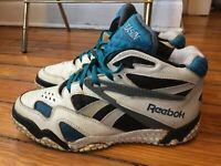 Vintage Reebok Preseason Basketball Shoes Street Ball Leather Men Size 8.5