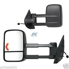 2007-2014 GMC SIERRA / YUKON POWER HEATED TURN SIGNAL TOWING SIDE MIRROR PAIR