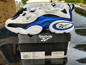 Reebok Electro 3D 97 White Blue Authentic Running Shoes Size 9 DV8227