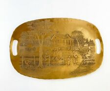 """Handmade Wendell August Forge Solid Bronze Amish Luncheon Tray Platter 17.5"""""""